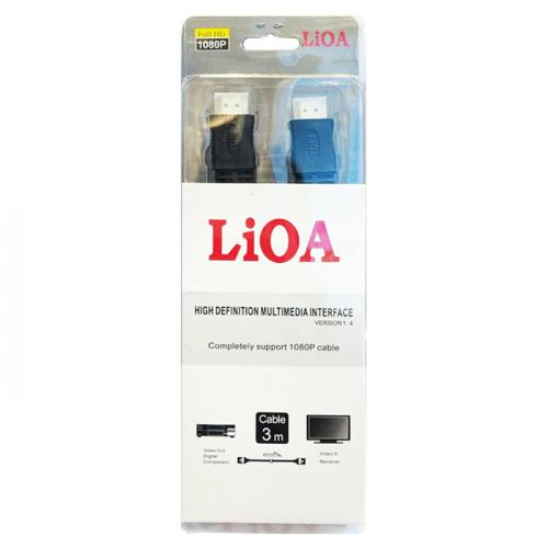 LIOA HDMI 3M COMPLETELY SUPPORT 1080P CABLE سلك توصيل اتش دي من ليوا يدعم 1080P بطول 3متر