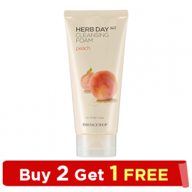 The Face Shop - HERB DAY 365 Foaming Cleanser Peach