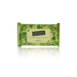 The Face Shop - HERB DAY Lip&Eye Remover Wipes