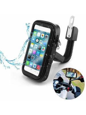 Phone Holder Support Moto Bike Rearview Mirror Waterproof Scooter Motorcycle