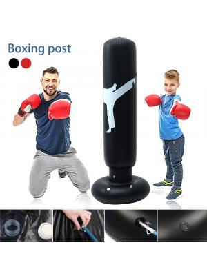 1.6m Inflatable Boxing Bag Training Pressure Relief Exercise Water Punching Standing Sandbag Fitness Body Building Equipment