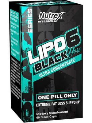 Labs, Lipo 6 Black Hers, for women , 60 Black-Caps