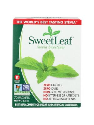 ستيفيا - Wisdom Natural, SweetLeaf, Natural Stevia Sweetner, 70 Packets