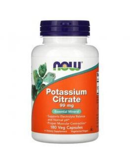 سيترات البوتاسيوم  - Now Foods, Potassium Citrate, 99 mg, 180 Veg Capsules