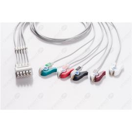 GE Healthcare>Marquette Reusable ECG LeadWires MQB5-90P