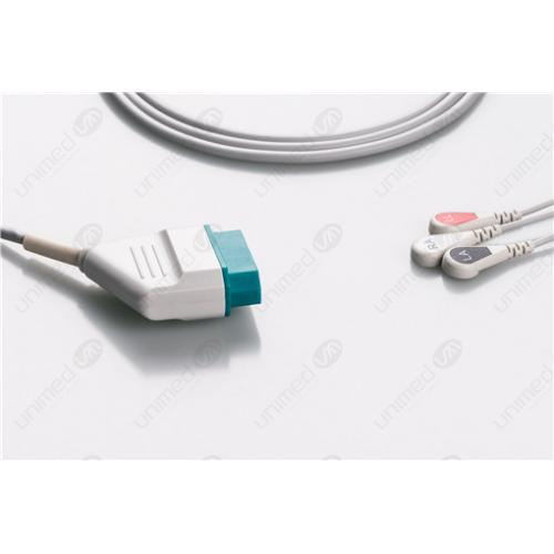 Nihon Kohden Disposable One Piece ECG Fixed Cable 2309S