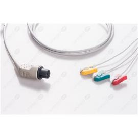 AAMI 6PIN Disposable One Piece ECG Fixed Cable 2340P-I 2340P