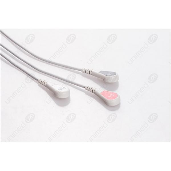 AAMI 6PIN Reusable One Piece ECG Fixed Cable 2341S