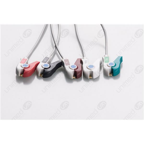 AAMI 6PIN Reusable One Piece ECG Fixed Cable 2540RP 2540RP-I
