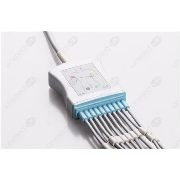 Fukuda Denshi Reusable One Piece EKG Fixed Cable E10R-FD1-B