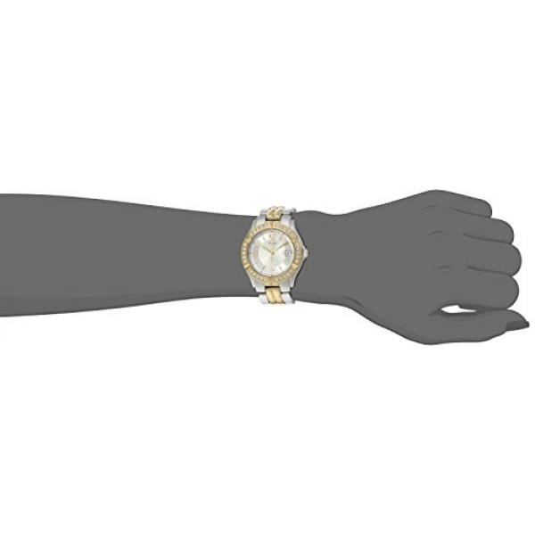GUESS Women's U0026L1 Dazzling Sporty Silver& Gold-Tone Mid-Size Watch