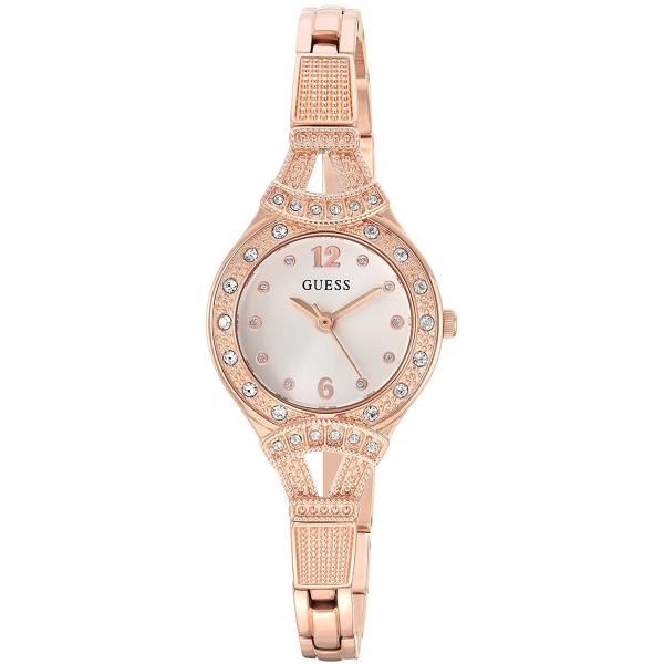 GUESS Women's Quartz Stainless Steel Casual Watch, ColorRose Gold-Toned (Model U1032L3)