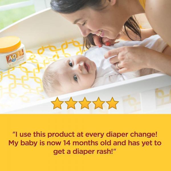 A D Original Diaper Rash Ointment, Skin Protectant With Lanolin and Petrolatum, Seals Out Wetness, Helps Prevent Baby Diaper Rash, 1 Pound