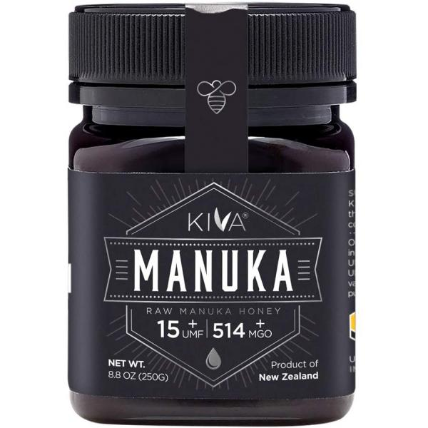 Kiva Certified UMF 15+ Raw Manuka Honey - New Zealand (8.8 oz / 250g)