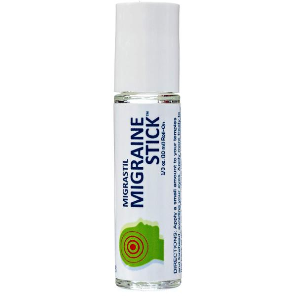 Migrastil Migraine Headache Stick Roll-on Relief, Essential Oil Aromatherapy 10ml by Basic Vigor (5 pack)