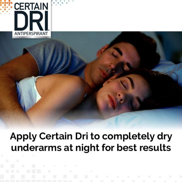 Certain Dri Prescription Strength Clinical Antiperspirant - Doctor Recommended Hyperhidrosis Treatment - 72 Hour Protection from Excessive Sweating - Roll-On - 1.2 Fl Oz - Pack of 1