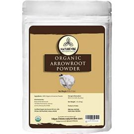 Naturevibe Botanicals Organic Arrowroot Powder, 16 ounces  Arrowroot Flour or Arrowroot Starch  Gluten Free and Non-Gmo  Manihot esculenta  Cooking